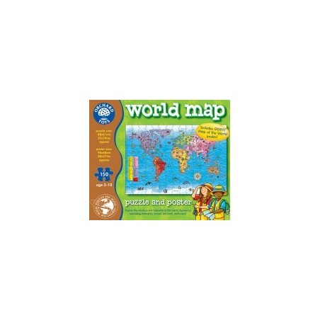 Kerrison toys amazing prices for toys games and puzzles world map jigsaw puzzle and poster explore the countries and continents of the world and discover the local inhabitants and landmarks gumiabroncs Image collections