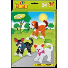 Hama Bead Dogs & Cat Set  3433