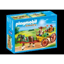 PLAYMOBIL Horse-drawn Wagon...