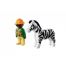Playmobil 1.2.3 Ranger with...