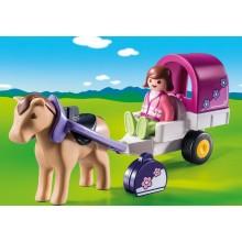 Playmobil 1.2.3 Horse-Drawn...