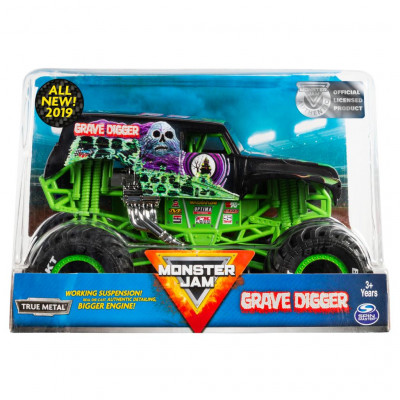 Monster Jam Official Grave Digger Monster Truck Die-Cast Vehicle 1:24 Scale