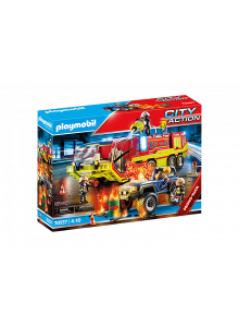 Playmobil Fire Engine and...