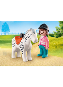 Playmobil 123   Rider with...