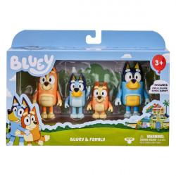Bluey 4 Pack - Bluey & Family